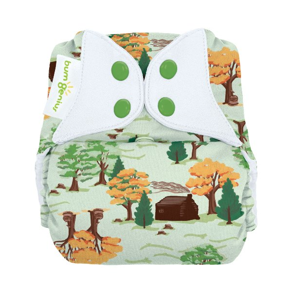 bumGenius freetime cloth diapers with snaps -  Big Woods