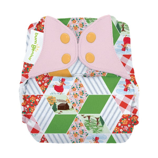 bumGenius freetime cloth diapers with snaps - Patchwork