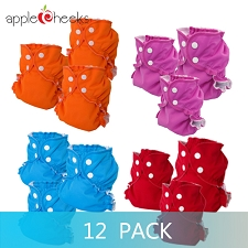 AppleCheeks Two Sized Cloth Diaper Kit - 12 Pack