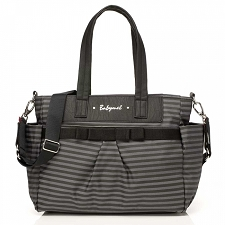 Babymel Cara Diaper Bag - Stripe Grey