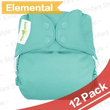 bumGenius Elemental One-Size AIO Diapers - 2017 Version - 12 Pack