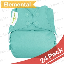 bumGenius Elemental One-Size AIO Diapers - 2017 Version - 24 Pack