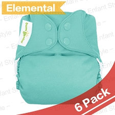 bumGenius Elemental One-Size AIO Diapers - 2017 Version - 6 Pack + FREE GIFT