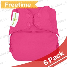 bumGenius Freetime All-In-One One-Size Cloth Diaper - 6 Pack + FREE GIFT
