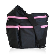 Diaper Dude Black Pink zip Diva - Specially Designed for Hip Moms