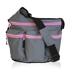 Diaper Dude Grey Pink zip Diva - Specially Designed for Hip Moms