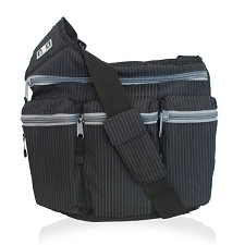 Diaper Dude Original Diaper Bag - Black Pinstripe