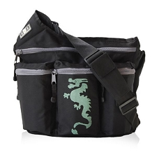Diaper Dude Original Diaper Bag - Black Dragon