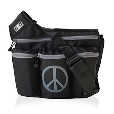 Diaper Dude Original Diaper Bag - Black Peace