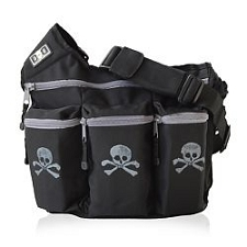 Diaper Dude Original Diaper Bag - Black Skull