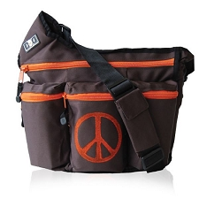 Diaper Dude Original Diaper Bag - Brown Peace