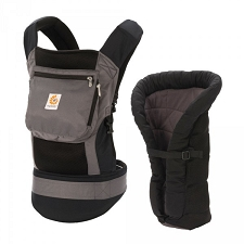 ERGObaby Performance Baby Carrier - Bundle of Joy - Charcoal Black