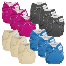 GroVia Newborn AIO Cloth Diapers - 12 Pack