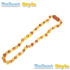 Healing Amber Baby Baltic Amber Teething Necklace - Camarel & Gold