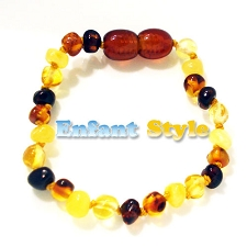 Healing Amber Baby Baltic Amber Teething Bracelet/Anklet - 5.5 inches - CLASP