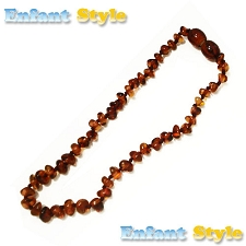 Healing Amber Baby Baltic Amber Teething Necklace - Kahlua