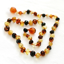 Healing Amber Baby Baltic Amber Teething Necklace - Multi Circle