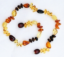 Healing Amber Baby Baltic Amber Teething Necklace - Multi (1x Oval + 3x Triangle)