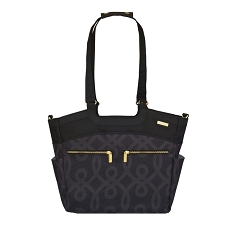 JJ Cole Camber Diaper Bag - Black & Gold