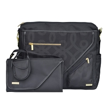 JJ Cole Metra Diaper Bag - Black & Gold