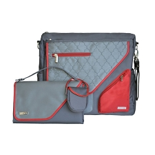 JJ Cole Metra Diaper Bag - Crimson Arbor