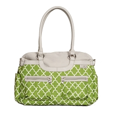 JJ Cole Satchel Diaper Bag - Green Arbor