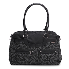 JJ Cole Satchel Diaper Bag - Charcoal Infinity