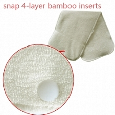 Alvababy 4-Layer Bamboo Insert for Alvababy Double Gussets Diaper - 3 Pack
