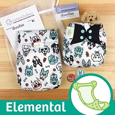 MONTH #1 - PAWsome bumGenius Elemental Cloth Diaper Set
