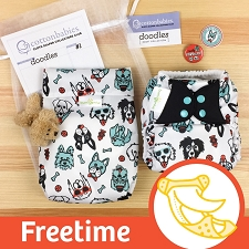MONTH #1 - PAWsome bumGenius Freetime Cloth Diaper Set