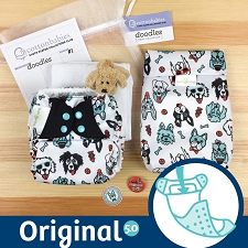 MONTH #1 - PAWsome bumGenius 5.0 Cloth Diaper Set