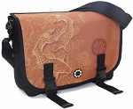 DadGear Messenger Diaper Bag - Gold Koi