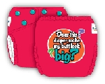 FuzziBunz Diaper Talk One Size Elite Cloth Diaper - Limited Edition