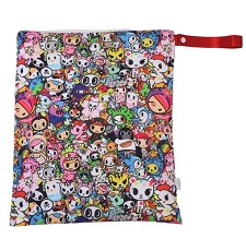 Itzy Ritzy Travel Happens Large Wet Bag with Handle - Tokidoki Allstars!