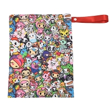 Itzy Ritzy Travel Happens Wet Bag with Handle - Tokidoki Allstars!