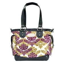 JJ Cole Boutique Diaper Bag - NORAH Bag - Boysenberry Fleur
