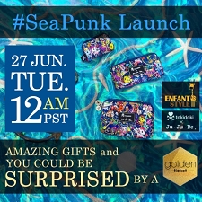 Ju Ju Be Launch - Tokidoki Sea Punk - Coming 6/27 at 12:00AM PST / 3:00AM EST