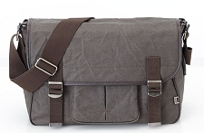 OiOi Chocolate Waxed Canvas Satchel