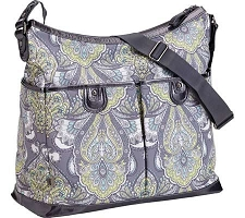 OiOi Baroque Paisley/Patent 2 Pocket Hobo Diaper Bag