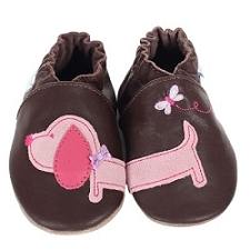 Robeez Soft Soles - Dachshund Brown