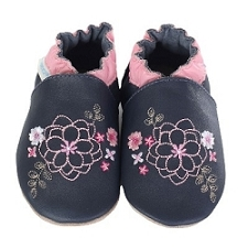 Robeez Soft Soles - Floral Embroidery