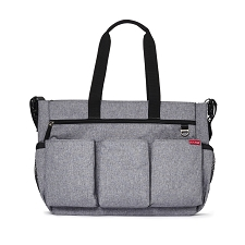 Skip Hop Duo Double Diaper Bag - Heather Grey