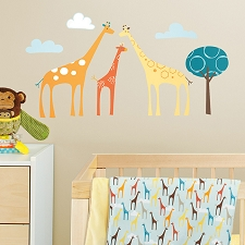 Skip Hop Wall Decals - Giraffe Safari