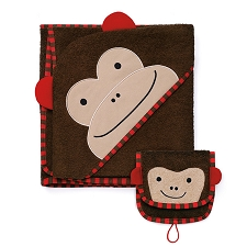 Skip Hop Zoo Towel / Mitt Set - Monkey