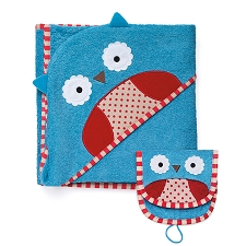 Skip Hop Zoo Towel / Mitt Set - Owl