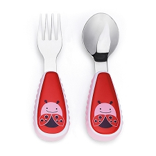 Skip Hop Zootensils Little Kid Fork and Spoon