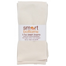 Smart Bottoms Too Smart Organic Cotton Inserts - 3 pack