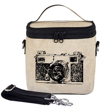 SoYoung Raw Linen Large Cooler Bag - Black Camera