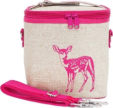 SoYoung Raw Linen Small Cooler Bag - Pink Fawn
