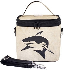 SoYoung Raw Linen Small Cooler Bag - Black Shark
